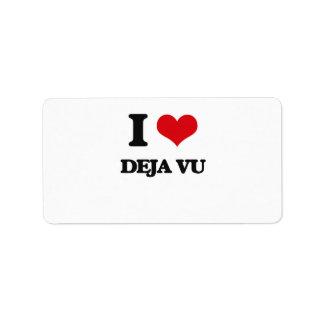 I love Deja Vu Personalized Address Labels
