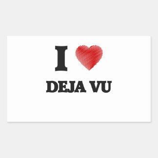 I love Deja Vu Rectangular Sticker