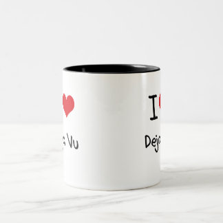 I Love Deja Vu Two-Tone Coffee Mug