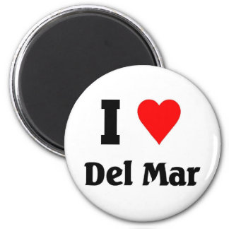 I love Del mar 2 Inch Round Magnet