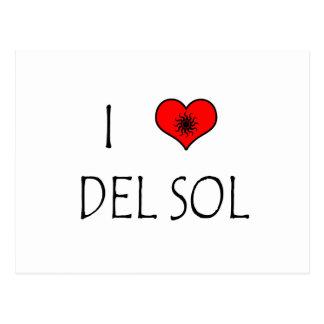 I Love Del Sol Tarjeta Postal