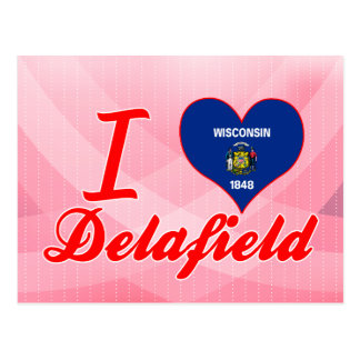 I Love Delafield, Wisconsin Postcard