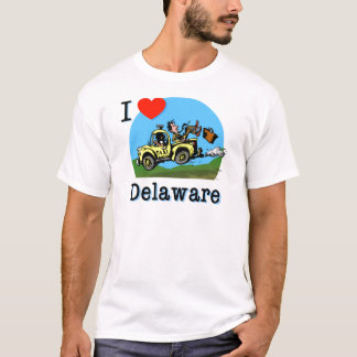 I Love Delaware Country Taxi T-Shirt