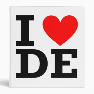 I Love Delaware Design 3 Ring Binder