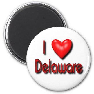I Love Delaware Fridge Magnet