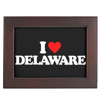 I LOVE DELAWARE MEMORY BOX