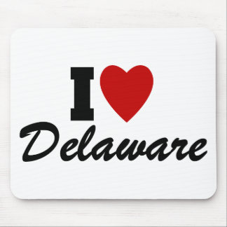 I Love Delaware Mouse Pad