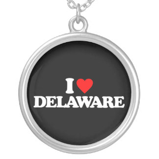 I LOVE DELAWARE PERSONALIZED NECKLACE