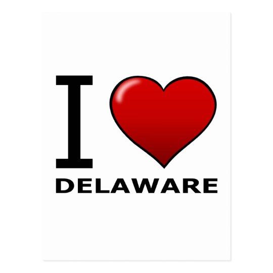 I LOVE DELAWARE POSTCARD