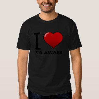 I LOVE DELAWARE T SHIRT