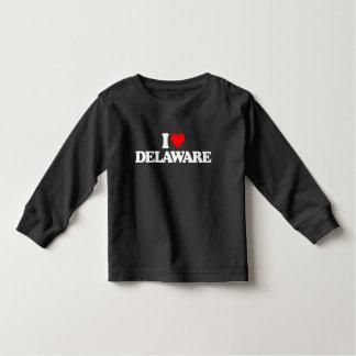 I LOVE DELAWARE TODDLER T-SHIRT