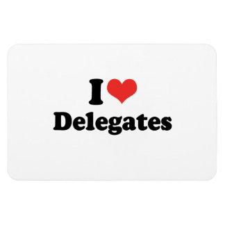 I LOVE DELEGATES - .png Magnet