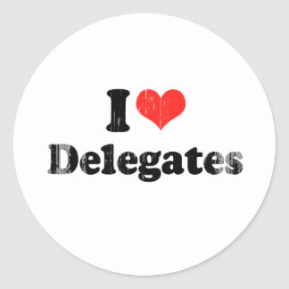 I LOVE DELEGATES.png Stickers