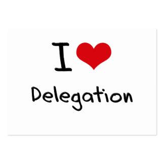 I Love Delegation Large Business Cards (Pack Of 100)