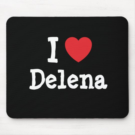 I love Delena heart T-Shirt Mouse Pad