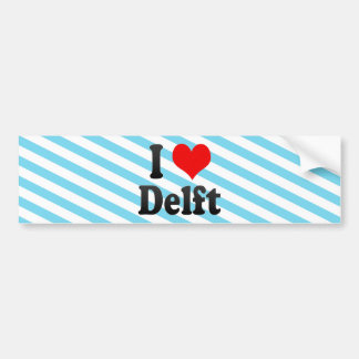 I Love Delft, Netherlands Bumper Sticker