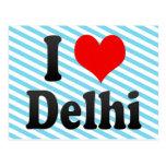 I Love Delhi, India. Mera Pyar Delhi, India Postcards