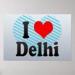 I Love Delhi, India. Mera Pyar Delhi, India Print