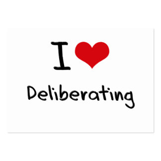 I Love Deliberating Large Business Cards (Pack Of 100)