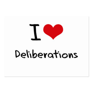 I Love Deliberations Large Business Cards (Pack Of 100)