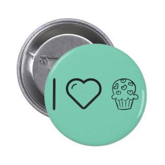 I Love Delicous Cupcakes 2 Inch Round Button