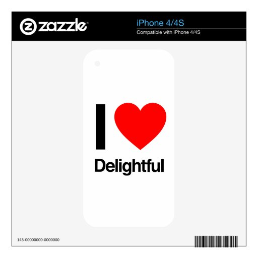 i love delightful iPhone 4 decal