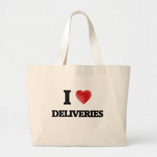 I love Deliveries Large Tote Bag