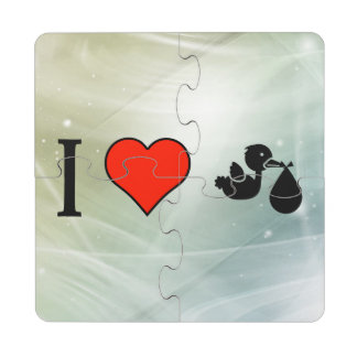 I Love Delivering Babies Puzzle Coaster