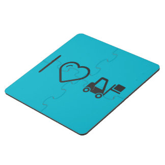 I Love Delivering Packages Puzzle Coaster
