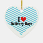 I Love Delivery Boys Christmas Tree Ornaments