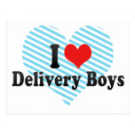 I Love Delivery Boys Post Card