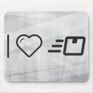I Love Delivery Messages Mouse Pad