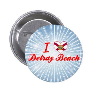 I Love Delray Beach, Florida Button