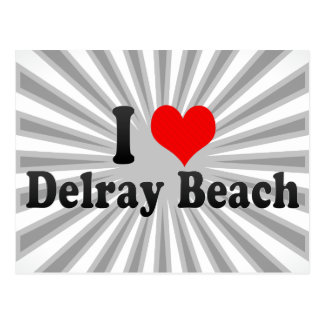 I Love Delray Beach, United States Postcard