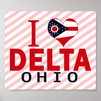 I love Delta, Ohio Posters