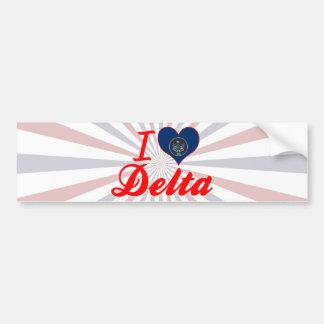 I Love Delta, Utah Bumper Stickers