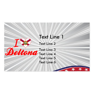 I Love Deltona, Florida Double-Sided Standard Business Cards (Pack Of 100)