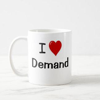 I Love Demand I Heart Supply Economist Joke Quote Basic White Mug