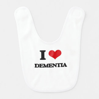 I Love DEMENTIA Bibs