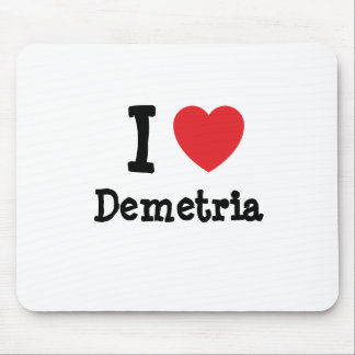 I love Demetria heart T-Shirt Mouse Pad