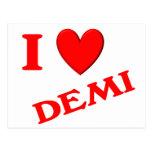 I Love Demi Postcard