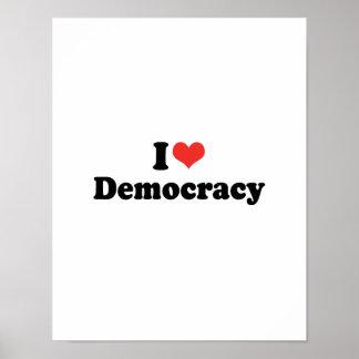 I LOVE DEMOCRACY - .png Print