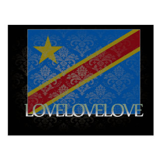 I love Democratic Republic Of Congo Cool Postcard