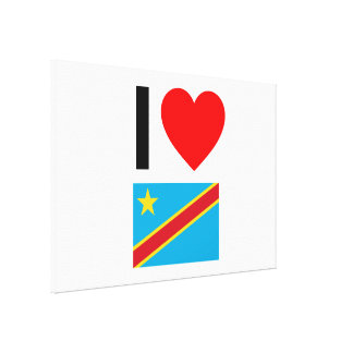 i love democratic republic of the congo canvas print