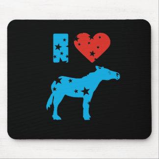 I Love Democrats Mouse Pads
