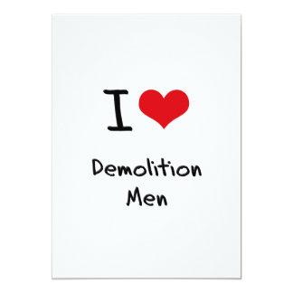 I Love Demolition Men Personalized Invites