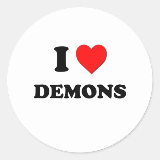 I Love Demons Stickers