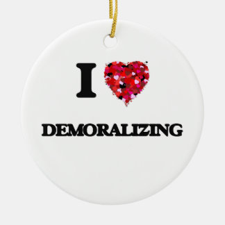 I love Demoralizing Double-Sided Ceramic Round Christmas Ornament