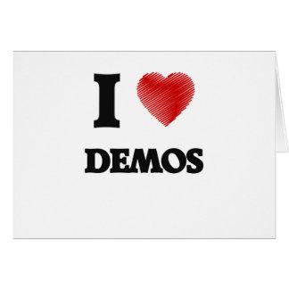 I love Demos Card