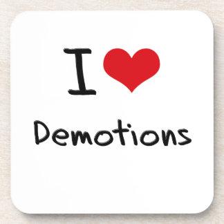 I Love Demotions Beverage Coasters